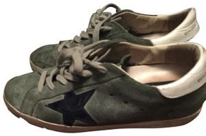 Golden Goose Deluxe Brand green with navy star Athletic