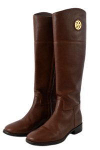 Tory Burch Leather Gently Used Brown Boots