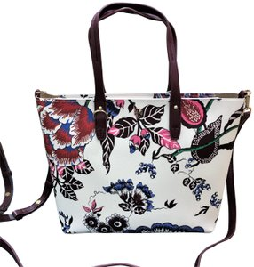 Tory Burch Tote in multi green happy times