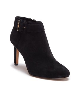 Vince Camuto black and gold hardware Boots