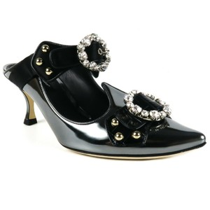 Dolce&Gabbana Chrome, Black Mules