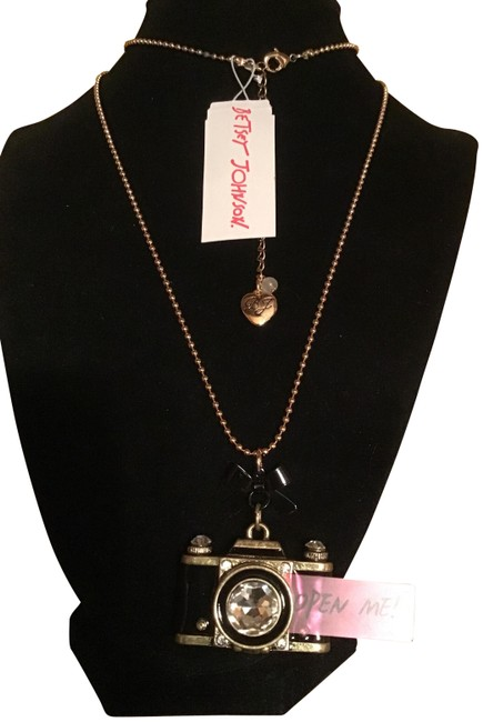 Item - Black & Gold Picture Perfect Necklace