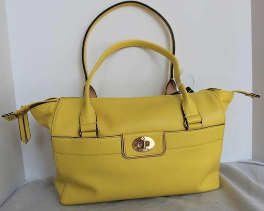Kate Spade Hampton Road Colette Leather Purse Tote Yarrow Shoulder Handbag Satchel in Yellow