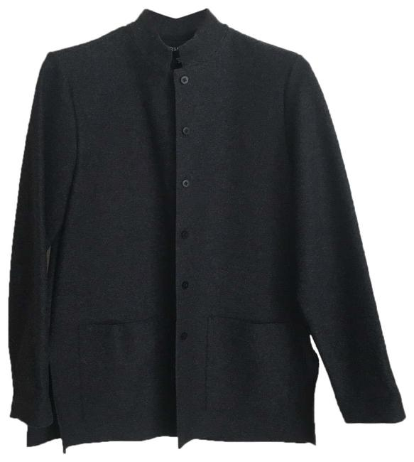 Eileen Fisher Gray Button Up Coat Size 2 (XS) Eileen Fisher Gray Button Up Coat Size 2 (XS) Image 1