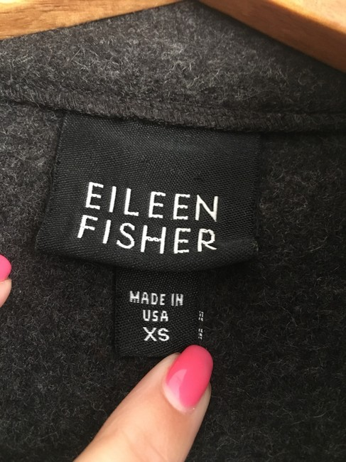 Eileen Fisher Gray Button Up Coat Size 2 (XS) Eileen Fisher Gray Button Up Coat Size 2 (XS) Image 3