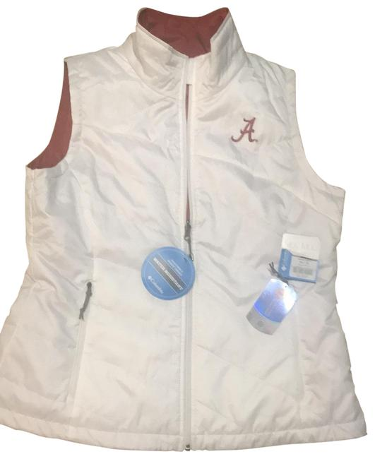 Item - White and Crimson Alabama Collegiate Vest Size 14 (L)