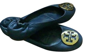 Tory Burch blue with gold T logo Flats