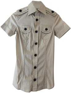 DSquared Button Down Shirt Beige