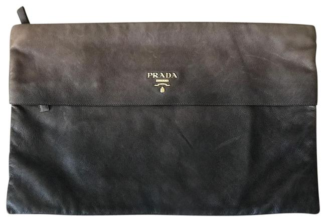 Item - Ardesia Nudo Pochette Tan and Brown Ombre Leather Clutch
