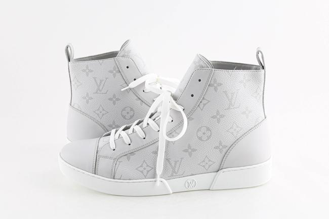 Item - Grey Grey/White Monogram Match Up Sneakers Shoes