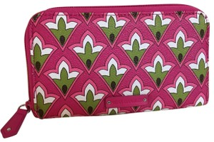 Vera Bradley VERA BRADLEY Zip Around PVC Accordion Wallet PETITE PINK