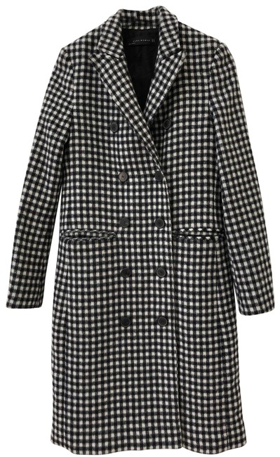 Item - Black and White Woman Coat Size 2 (XS)