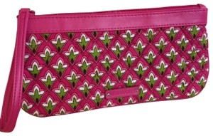 Vera Bradley VERA BRADLEY Long Quilted Cotton Wristlet Purse PETITE PINK