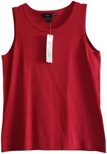 August Silk Layering Knit Top New Red Small