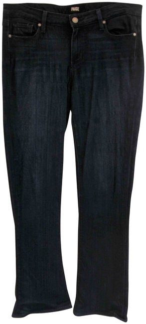 Item - Blue Dark Rinse Zip Fly Stretch 34/30 Flare Leg Jeans Size 34 (12, L)