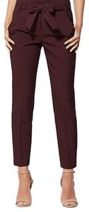 New York & Company Straight Pants Burgundy
