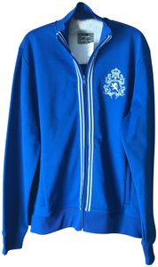 Express New With Tags Mens Size Lion Crest Machine Wash Zip-up Close Blue w/White Jacket