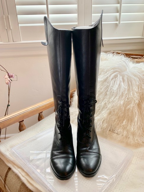 Item - Black Leather Riding Boots/Booties Size EU 38 (Approx. US 8) Regular (M, B)