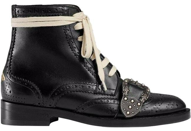 Gucci Black Dionysus Queercore Brogue Leather Lace Up Combat Short Ankle Boots/Booties Size EU 39.5 (Approx. US 9.5) Regular (M, B) Gucci Black Dionysus Queercore Brogue Leather Lace Up Combat Short Ankle Boots/Booties Size EU 39.5 (Approx. US 9.5) Regular (M, B) Image 1