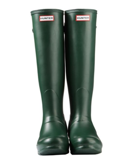 Item - Green New Adjustable Back Matte Rain Boots/Booties Size US 8 Regular (M, B)