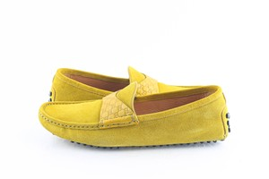 Gucci Yellow Suede Moccasin Drivers Shoes