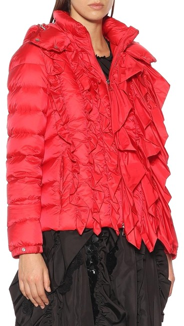 Item - Red Genius Women's Down Jacket with Frontal Ruffles New 1 Coat Size 6 (S)