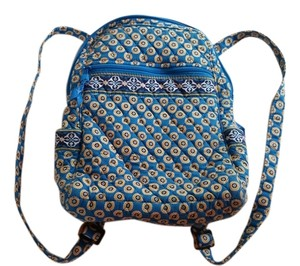 Vera Bradley Rivera Blue Backpack