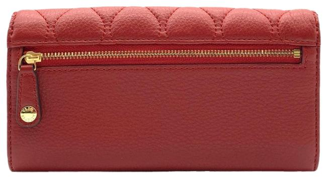 Item - Quilted Audrey Wallet In Tango Red Leather Wristlet