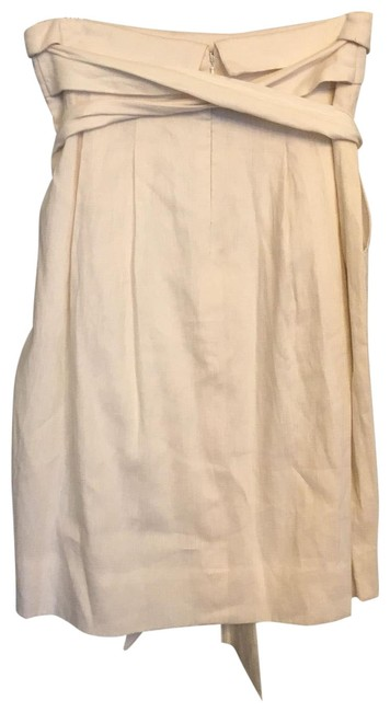 Item - White Linen Skirt Size 2 (XS, 26)