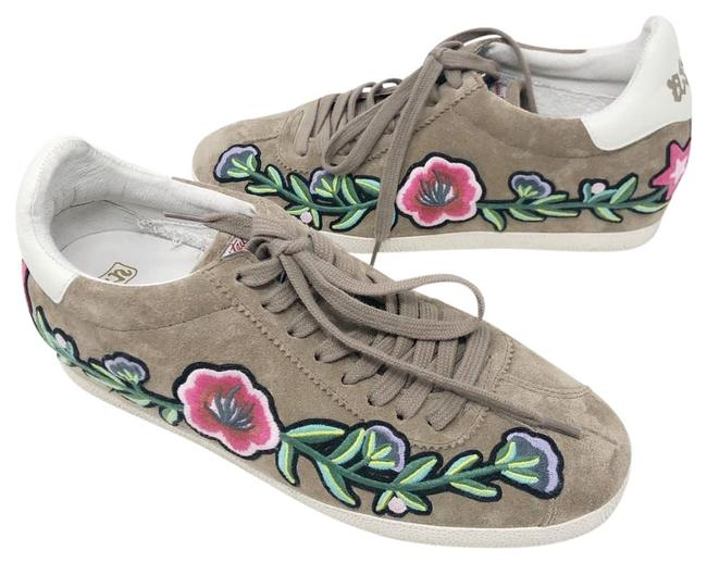 Item - Taupe Gull Embroidered Suede Sneakers Size US 10 Regular (M, B)