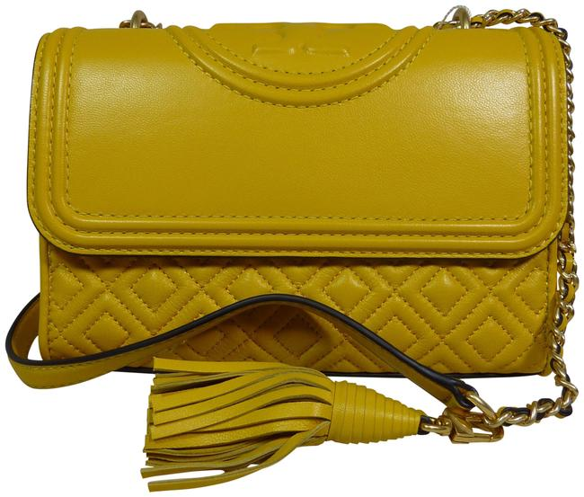 Item - Fleming Dailily Small Shoulder/Cross Yellow Leather Cross Body Bag