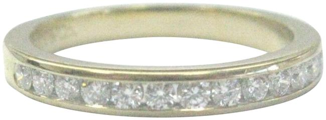 Item - Yellow Gold Co 18kt Diamond Channel Band Size 4.5 2.5mm Ring