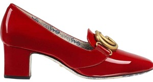 Gucci Loafer Mule Slide Flat Marmont red Pumps