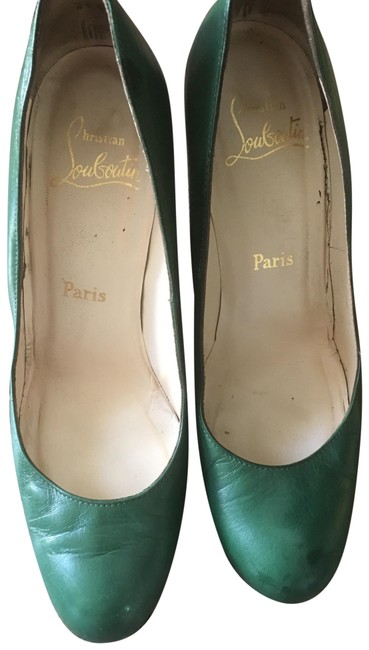 Item - Green Wedge Wood Pumps Size EU 38 (Approx. US 8) Regular (M, B)