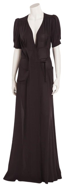 Item - Black Wrap Around Long Casual Maxi Dress Size 8 (M)