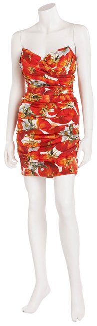 Item - Red Dolce & Gabbana Bodycon Built In Corset Strapless Short Night Out Dress Size 6 (S)