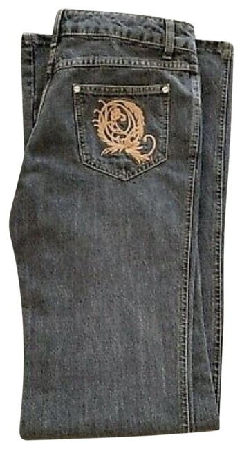Item - Black Distressed Punk Collection Boot Cut Jeans Size 32 (8, M)