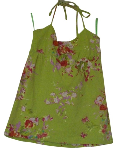 Item - Green/Floral Halter Top Size 0 (XS)