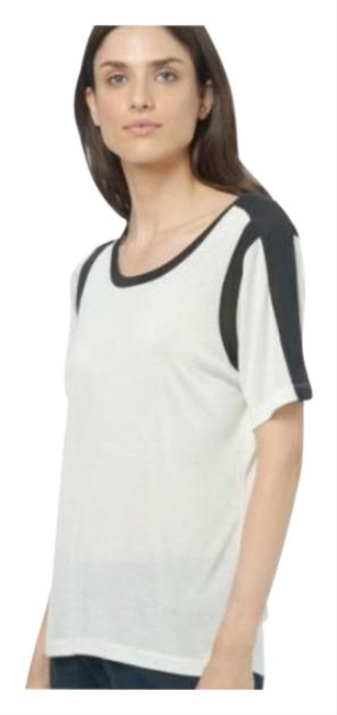 Item - Black White Women's Soft Sleeve Tops Tee Shirt Size 8 (M)