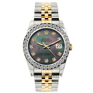 ROLEX 1.3ct Ladies Datejust Gold S/S WITH Appraisal