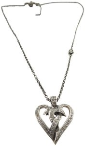Scott Kay Sterling Silver Diamonique Cubic Zirconia Studded Entwined Hearts