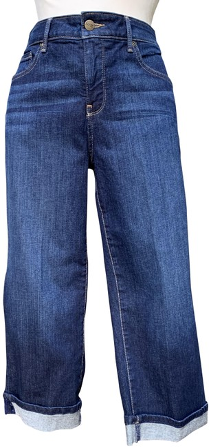 Item - Blue Dark Rinse Marilyn Straight Capri/Cropped Jeans Size 33 (10, M)