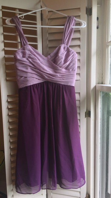 Item - Lilac/Grape Polyester Lb-fe3026 Feminine Bridesmaid/Mob Dress Size 4 (S)