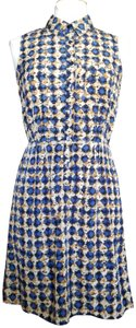 A. Byer short dress Blue Graphic Print Sleeveless Collared Abstract on Tradesy