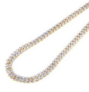 Jewelry Unlimited Yellow Gold Miami Cuban Chain 8MM 12.15 CT 21""