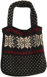 Aéropostale Sweater Knit Snowflake Holiday Tote in Grey