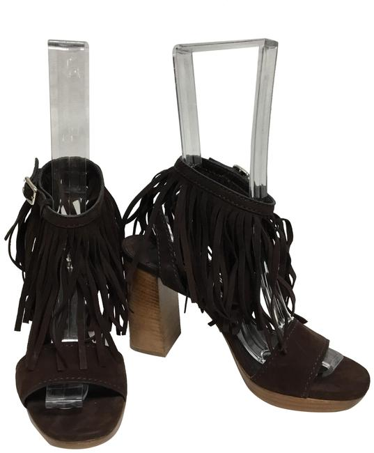 Item - Brown Suede with Fringe Sandals Size EU 38.5 (Approx. US 8.5) Regular (M, B)