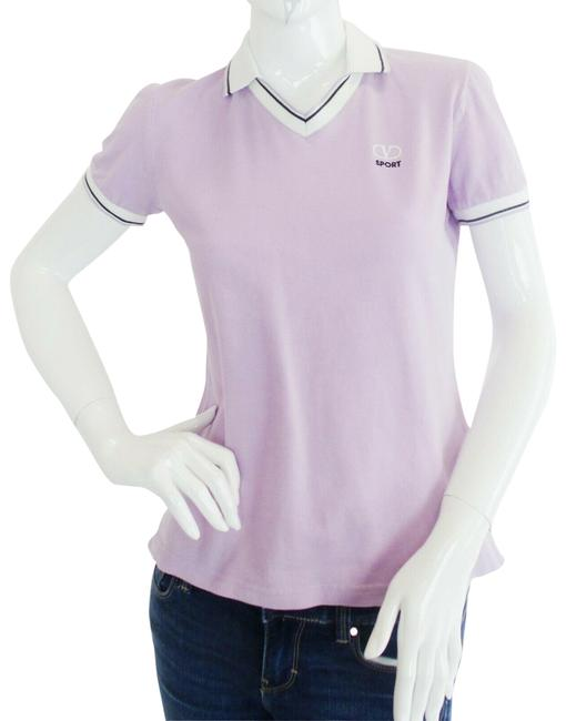 Item - Lilac Cotton Polo Activewear Top Size 8 (M)