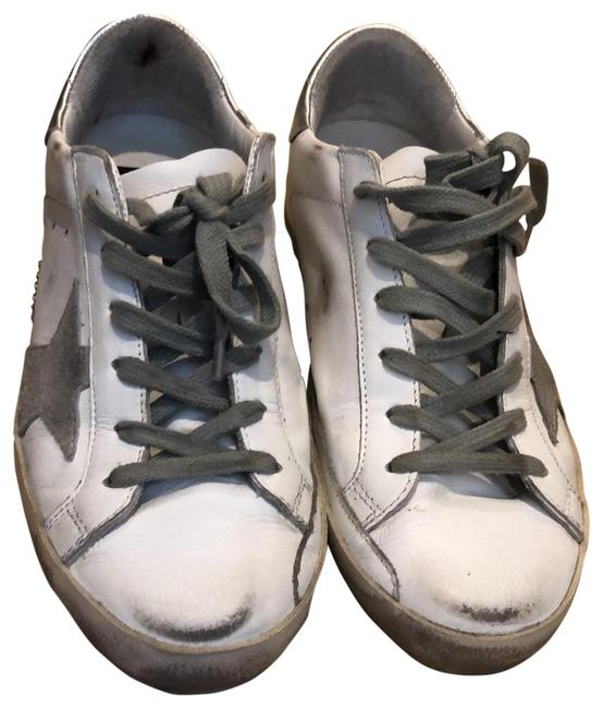 Item - White Leather Grey Star Superstar Sneakers Size EU 37 (Approx. US 7) Narrow (Aa, N)