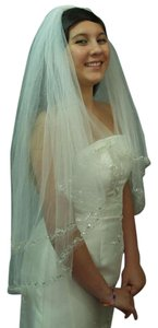 Diamond White Medium Fingertip Length To Tier Bridal Veil